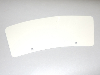 Number plate-FRONT mudguard - 23 cm