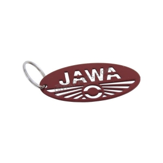 Key ring (62 mm), RED - JAWA