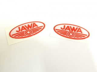 Sticker Jawa oval 3D-RED 7cm-2pcs