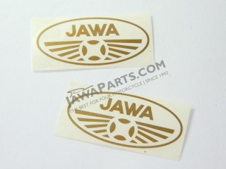Sticker Jawa oval GOLD 7cm - 2pcs