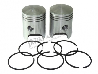 Piston set R+L with rings 58,00, tenon 16 - Jawa 638-640