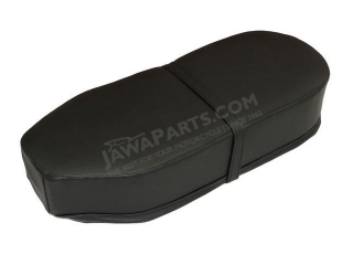 Seat cover (straight), BLACK - JAWA Panelka, ČZ