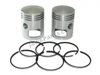 Piston set R+L with rings 59,25, tenon 16 - Jawa 350