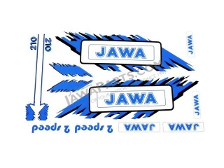 Set of stickers, BLUE - Babetta 210