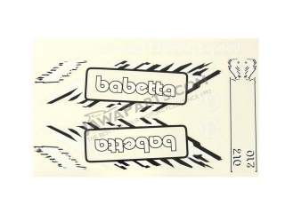 Set of stickers, WHITE BABETTA - Babetta 210