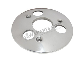 Cover of wheel hub, REAR (POLISHED) - JAWA 50 555,05