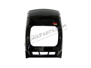 Mask of front lamp, complete BLACK - JAWA 350 640
