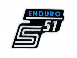 Sticker of cover ENDURO, BLUE - Simson S51