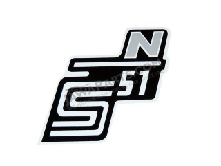 Sticker of cover S51 N, SILVER - Simson S51