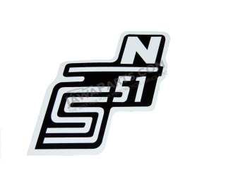 Sticker of cover S51 N, WHITE - Simson S51
