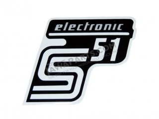 Sticker of cover ELEKTONIK, SILVER 2 - Simson S51