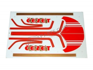 Set of stickers, RED/GOLD - ČZ 472
