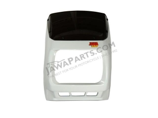 Mask of front lamp, complete WHITE - JAWA 350 640