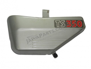 Side cover LEFT, silver - JAWA 350 638-639