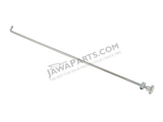 Rod of rear brake CHROME, complete - JAWA 50 550