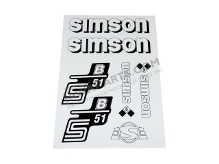 Stickers set S51 B (IFA), WHITE - Simson S51