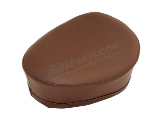 Seat cover (side hinge), DARK BROWN - JAWA 50 550