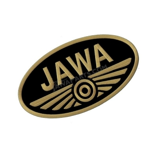 Iron-on logo (10x5,5cm) BLACK-GOLD - JAWA