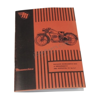 Catalog of spare parts - ČZ 125 B,T