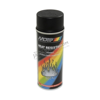 Refractory paint for cylinders and exhausts, BLACK - MOTIP HEAT RESISTANT