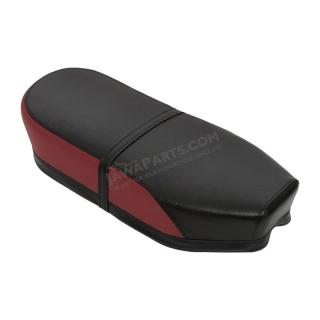 Seat (straight), RED/BLACK (TUR) - JAWA Panelka, ČZ