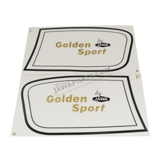 Stickers (2pcs) L+R - JAWA 50 23 Golden Sport
