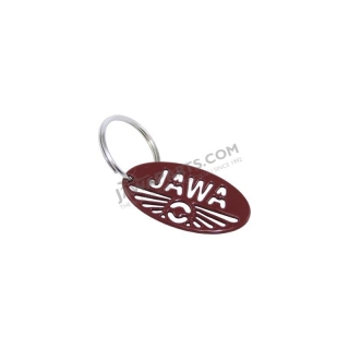 Key ring (33 mm), RED - JAWA