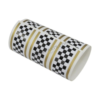 "Sticker ""chessboard"" - WHITE/GOLD"