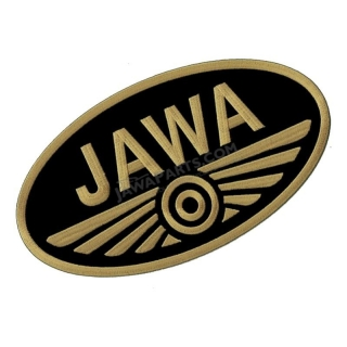 Iron-on logo (29,8x16,5cm) BLACK-GOLD - JAWA