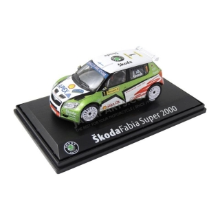 Model Škoda Fabia S2000 (1:43), Juho Hänninen #1 Barum Czech Rally Zlín 2009