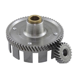 Clutch basket + pinion (62/21z) - Simson S51 (S70)
