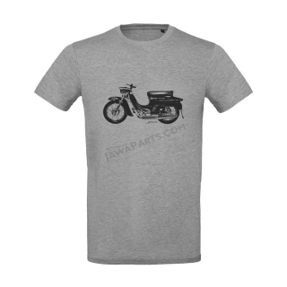 T-Shirt (L), grey - JAWA 50 type 20