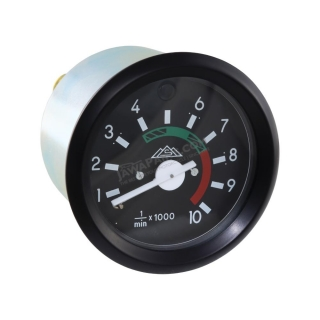 Rev-counter (10000 RPM), BLACK FRAME (MZA) - Simson S51, S53, S70