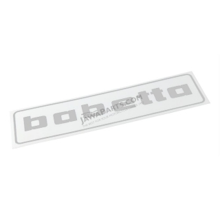 "Sticker ""babetta"", SILVER (140x37mm) - Babetta"