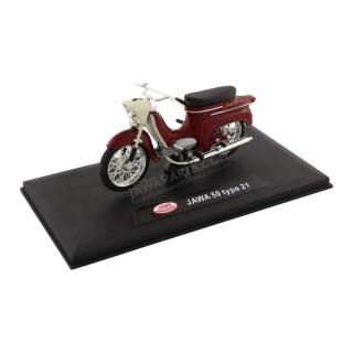 Model JAWA 50 type 21 1:18, DARK RED