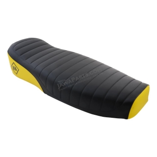Seat cover, BLACK-YELLOW (MZA) - S50, S51, S70 Enduro