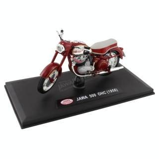 Model JAWA 500 OHC (1956) 1:18, RED (GREY SEAT)