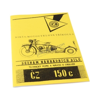 Catalog of spare parts - ČZ 150 C Rikša