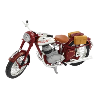 Model JAWA 350 Pérák with bags (1948) 1:18, RED