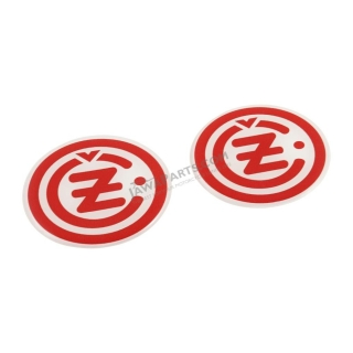 "Sticker ""3D effect"", RED-WHITE (2 pcs) - ČZ logo"