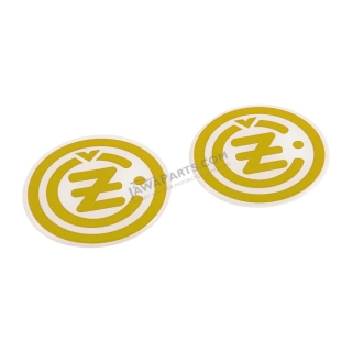 "Sticker ""3D effect"", GOLD-WHITE (2 pcs) - ČZ logo"