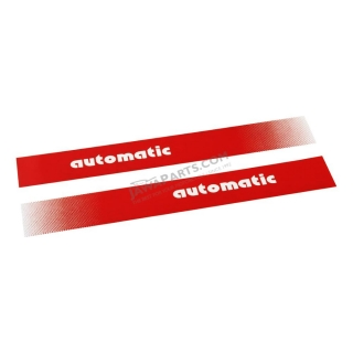 "Stickers ""automatic"", RED (2 pcs) - Manet Korado"