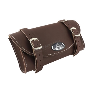 Saddle bag RETRO, DARK BROWN - UNI