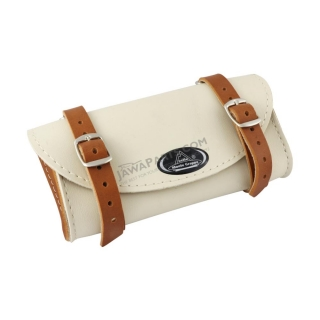 Saddle bag RETRO, CREAM / LIGHT BROWN - UNI