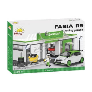 Building kit Škoda Fabia R5, racing garage (535 cubes) - COBI
