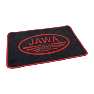 Doormat (60x40cm) BLACK-RED - JAWA