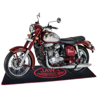 Carpet for motorcycle (200x60cm) BLACK-RED - JAWA