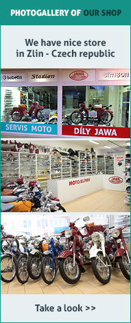 Jawa parts shop in Zlin (CZ)